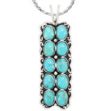 Turquoise Pendant Sterling Silver P3293-C75