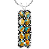 Spiny Turquoise Pendant Sterling Silver P3293-C89
