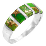 Green Turquoise Ring Sterling Silver R2465-C76