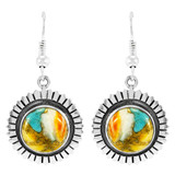 Spiny Turquoise Earrings Sterling Silver E1268-C89