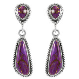 Purple Turquoise Earrings Sterling Silver E1359-C77