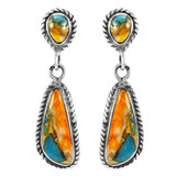 Spiny Turquoise Earrings Sterling Silver E1359-C89