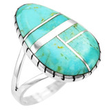 Turquoise Ring Sterling Silver R2411-C05