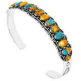 Spiny Turquoise Bracelet Sterling Silver B5578-C89