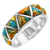 Spiny Turquoise Ring Sterling Silver R2477-C89