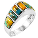 Spiny Turquoise Ring Sterling Silver R2001-C89