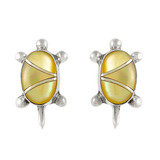 Turtle Mother of Pearl Earrings Sterling Silver E1083-C99