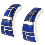 Lapis Earrings Sterling Silver E1148-C12