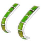 Green Turquoise Earrings Sterling Silver E1153-C06