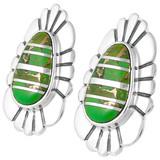 Green Turquoise Earrings Sterling Silver E1142-C06