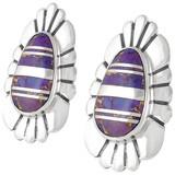 Purple Turquoise Earrings Sterling Silver E1142-C07