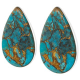 Matrix Turquoise Clip-On Earrings Sterling Silver E1137-C84