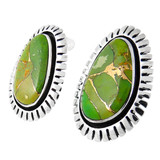 Green Turquoise Earrings Sterling Silver E1155-C76