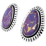 Purple Turquoise Earrings Sterling Silver E1155-C77
