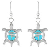 Turtle Turquoise Jewelry Earrings Sterling Silver E1158-C05