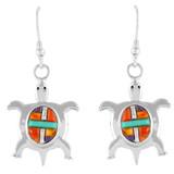 Turtle Multi Gemstone Earrings Sterling Silver E1158-C51