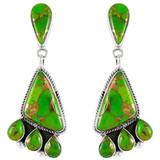 Green Turquoise Earrings Sterling Silver E1162-C76