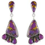 Purple Turquoise Earrings Sterling Silver E1162-C77