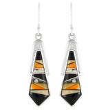 Multi Gemstone Earrings Sterling Silver E1076-C39