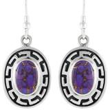 Purple Turquoise Earrings Sterling Silver E1140-C77