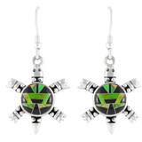 Turtle Multi Gemstone Earrings Sterling Silver E1149-C20