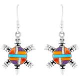 Turtle Multi Gemstone Earrings Sterling Silver E1149-C51