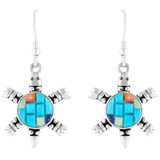 Turtle Turquoise Earrings Sterling Silver E1149-C55