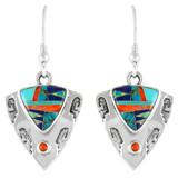 Multi Gemstone Earrings Sterling Silver E1156-C00