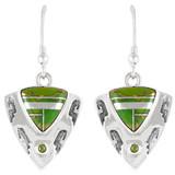 Green Turquoise Earrings Sterling Silver E1156-C06