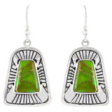 Green Turquoise Earrings Sterling Silver E1160-C76