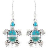 Turtle Turquoise Jewelry Earrings Sterling Silver E1161-C05