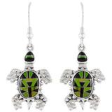Turtle Multi Gemstone Earrings Sterling Silver E1161-C20