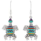 Turtle Multi Gemstone Earrings Sterling Silver E1161-C30