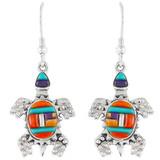 Turtle Multi Gemstone Earrings Sterling Silver E1161-C51