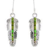 Green Turquoise Earrings Sterling Silver E1016-C56