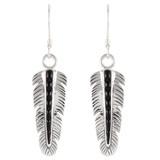 Black Shell Earrings Sterling Silver E1016-C61