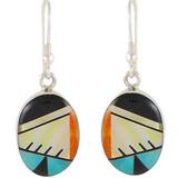 Multi Gemstone Earrings Sterling Silver E1025-C02