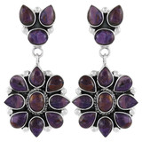 Purple Spiny Oyster Earrings Sterling Silver E1099-C80