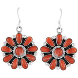 Spiny Oyster Earrings Sterling Silver E1112-C78