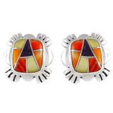 Multi Gemstone Earrings Sterling Silver E1007-C36