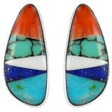 Multi Gemstone Earrings Sterling Silver E1125-C01