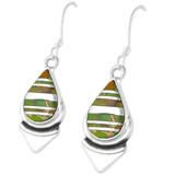 Green Turquoise Earrings Sterling Silver E1144-C06