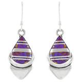 Purple Turquoise Earrings Sterling Silver E1144-C07