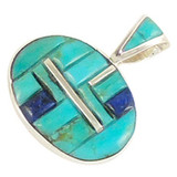 Turquoise Pendant Sterling Silver P3082-SM-C55
