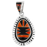 Spiny Oyster Pendant Sterling Silver P3096-C42