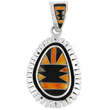 Spiny Oyster Pendant Sterling Silver P3096-C44