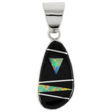 Black Opal Gemstone Pendant Sterling Silver P3102-SM-C31