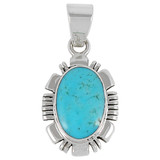Turquoise Pendant Sterling Silver P3113-C75