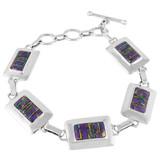 Purple Turquoise Link Bracelet Sterling Silver B5514-C23