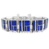 Lapis Link Bracelet Sterling Silver B5517-C12